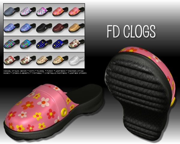 Casual styles for FD Clogs - DS 3.1 + and Poser 5 +