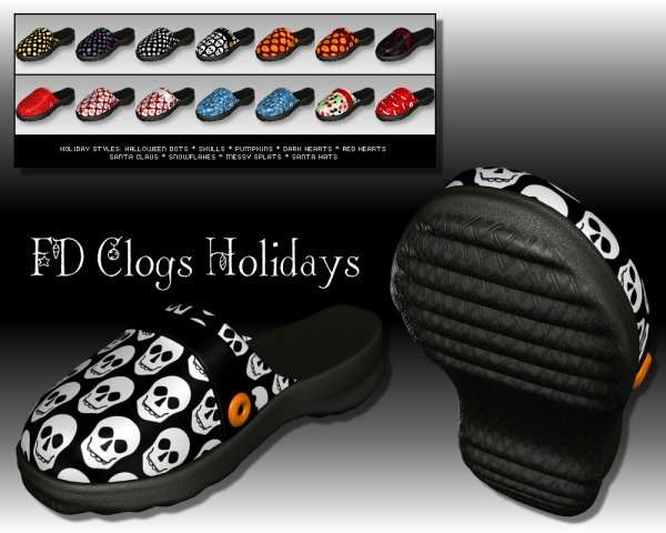 Holiday styles for FD Clogs - DS 3.1 + and Poser 5 +