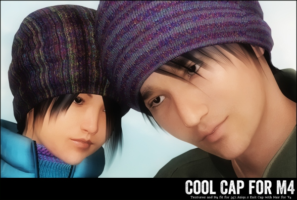 Cools Caps M4, for Aziquo's Knit Cap V4 with M4 Fit, DAZ Studio and Poser