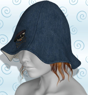 tulip hat denim pirate