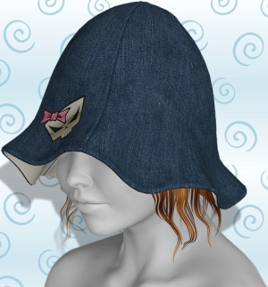 tulip hat denim skull