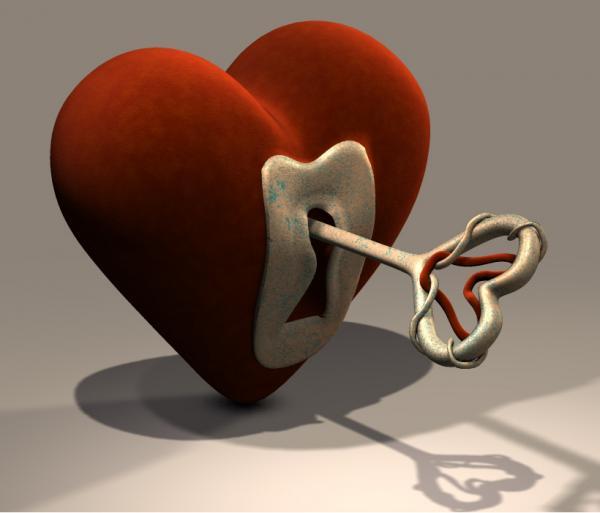 heart+key