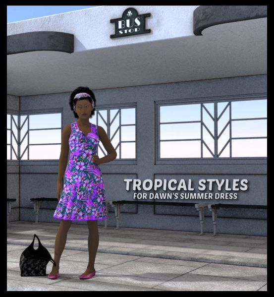 Tropical Textures for Dawn's Summer Dress, DS 4.6