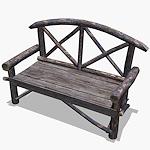 summer_props-rustic-park-bench