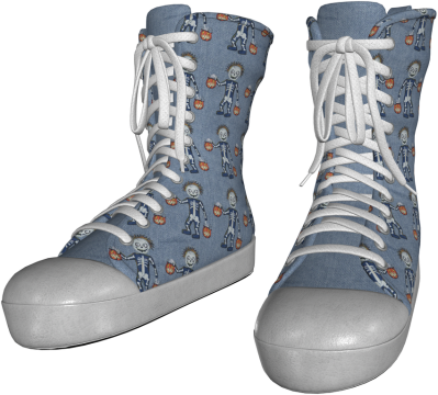 temp-khlwn shoes denim skelly clean