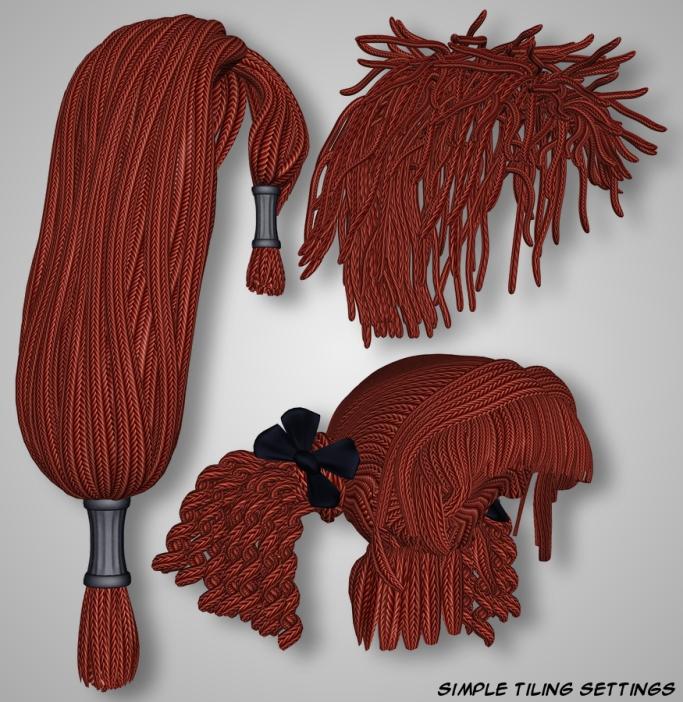 Rope Hair - No Shader Baker