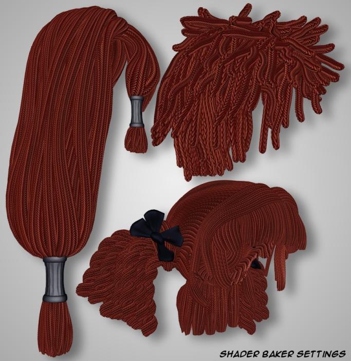 Rope Hair - Shader Baker