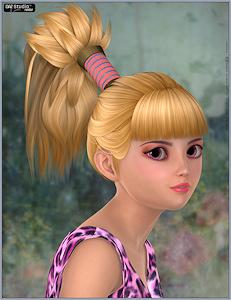 1-Hair_V4G2F-Pony-Flip