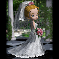 Clothes_Cookie Wedding Dress