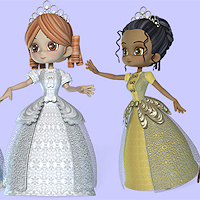 dolls_clothes-cookie princess dress