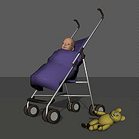 dolls_props-baby buggy