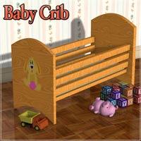 dolls_props-baby crib