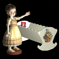dolls_props-doll stand + cradle