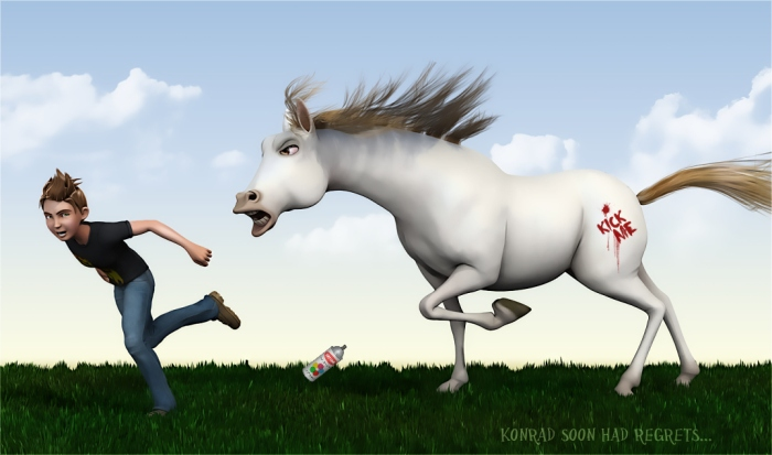 Konrad-vs-the-Toon-Horse