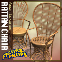 furniture-rattan chair