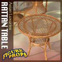 furniture-rattan table