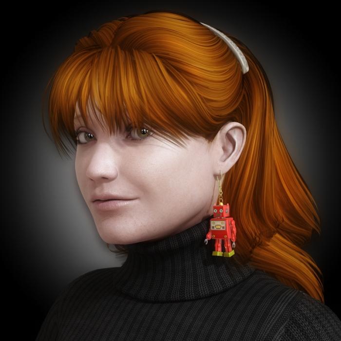 retro-robot-earring