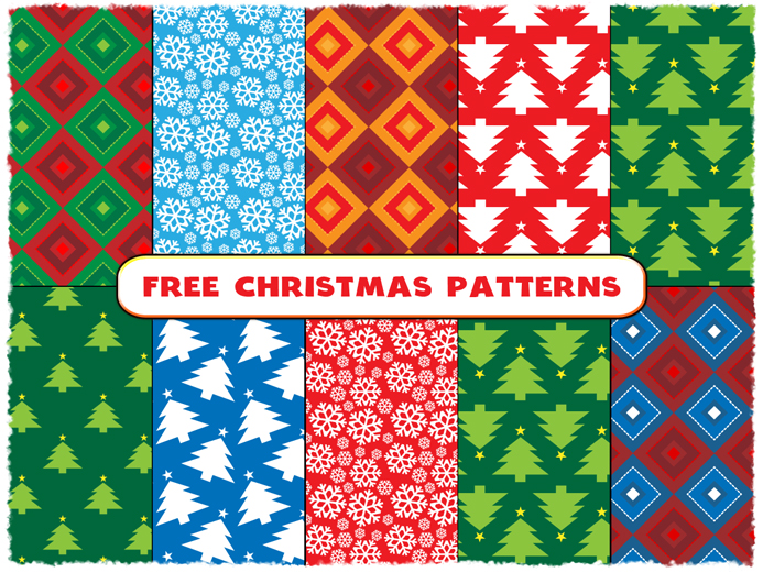 Free-Christmas-Vector-Seamless-Patterns