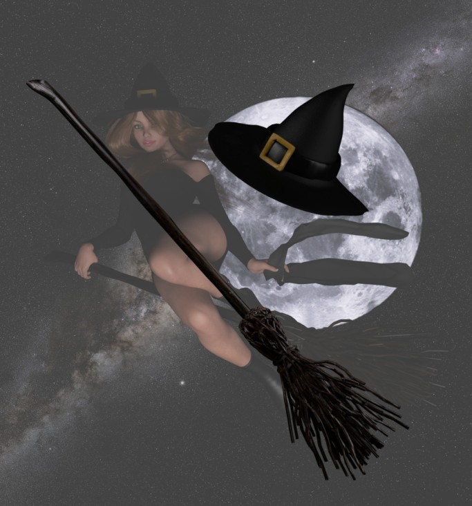 holidays-hlwn-witch-hat-broom