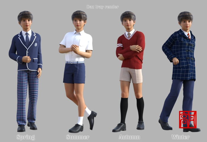 Clothes_G3M GaoDan School Uniforms 01